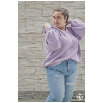 Sweater tejido Thelma - Color lila