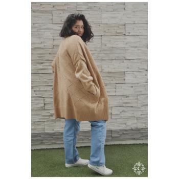 Chompón tejido Louise - Color camel