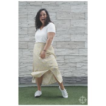 Falda Pierina - Color amarillo floreado