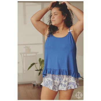 Pijama Brisa - Conjunto flores azulinas