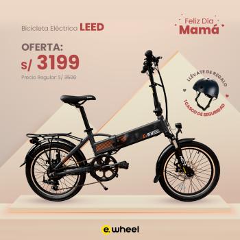 "Bicicleta Eléctrica Plegable 20"" modelo LEED"