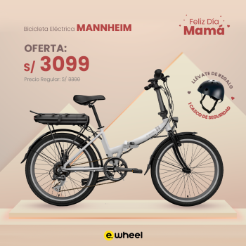 "Bicicleta Eléctrica Plegable 24"" modelo MANNHEIM"