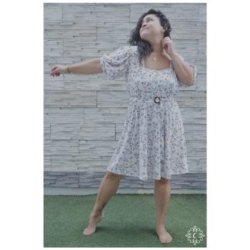 Vestido Cami - Rosa floreado