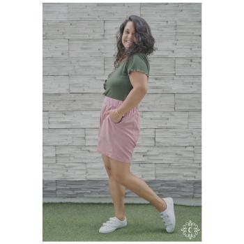 Shorts Dani - Color rosa