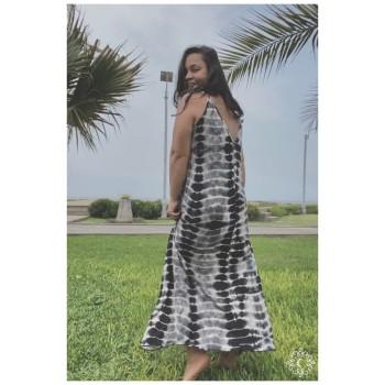 Vestido Candela - Tie dye gris