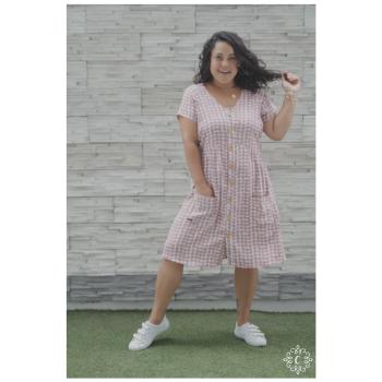 Vestido Teresa - Lunares rosados