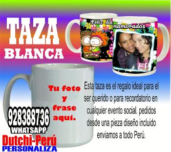 ✮Taza Blanca 11onz  personalizada 100% TU