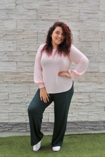Chompa Rosario - Color rosa bebé