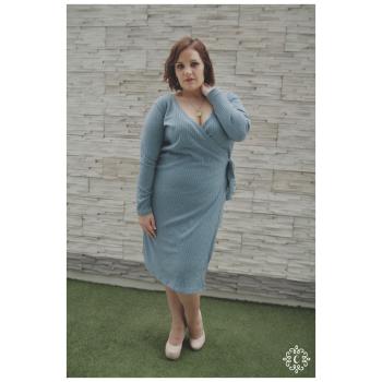 Vestido Karelia - Color celeste