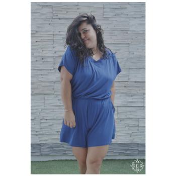 Enterizo Eleonor - Color azul