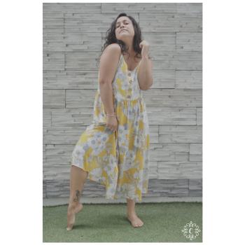 Vestido Susann - Amarillo floreado