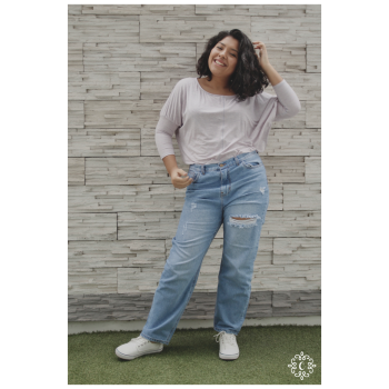 Polo Corina - Color lila jaspeado