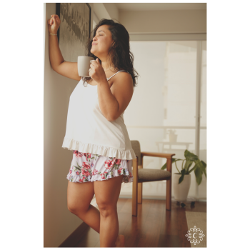 Pijama Brisa - Conjunto flores moradas